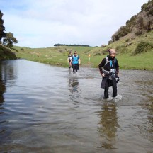 One of many ankle deep crossings (or knee-deep, depending on your height!).