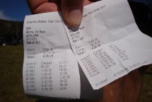 Our timing splits receipts - a great race innovation.