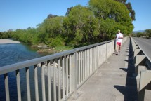 Crossing the Ruamahanga River.