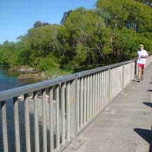 Crossing the Ruamahanga River.
