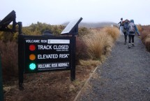 Reassuring to see the green light, but still a scary thought of crossing active volcanos.