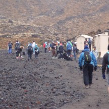 The last toilet stop before heading up the mountain. No wonder it looks like a busy morning at the farmers market.