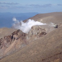 Te Maari crater that popped twice in 2012, causing a track closure, is stil fuming.
