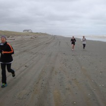 The Surf Club disappearing in the back with two runners behind me.