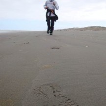 Footprints in the Sand. Apt name for the event.