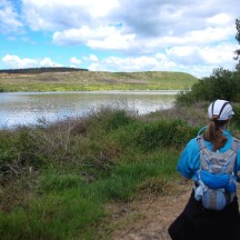 Running with constant views of Lake Maraetai to our left.
