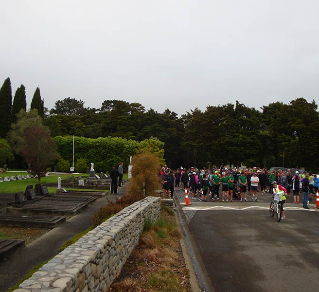 Start of the 20.8km walkers.