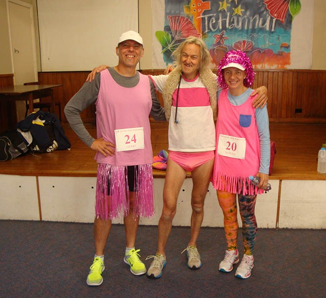 The two of us with Michael, who completed his 522nd marathon at this event.