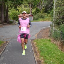 Gerry still going strong at about the 19km mark.
