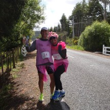 Having a laugh with other amazing runners - Mel being on 117 marathons.