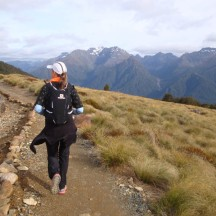 A fairly easy section of a couple of kilometres before you reach the hut.