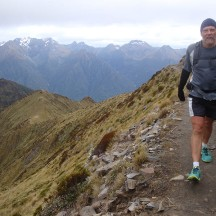 When running/walking on the spine of the mountains, the drop to either side is rather steep.