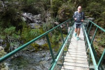 One of the many little bridges on the way, ensuring we could go through the run with dry feet.
