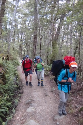 The big uphill section starts as you step out of your tent!