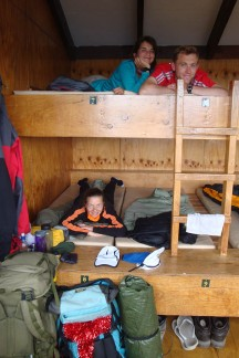 We arrived at the hut before lunch and had lots of time to just chill.
