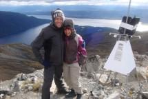 Johann and Nettie at Mt Luxmore peak.
