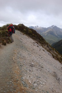 I have a healthy respect for these slips - rather stay right next to the bits of alpine vegetation that's still left.