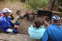Back at the camp with a fire going.