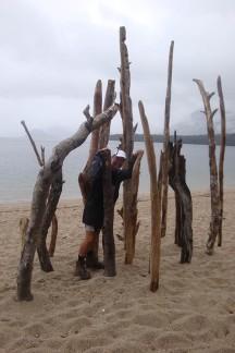 A lovely beach at Moturau Hut next to Lake Manapouri.