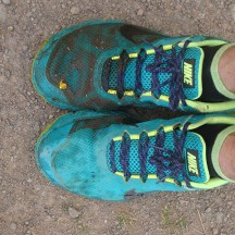 The result of stepping into a muddy section on the side of one of the larger water puddles.