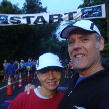 Start-selfie. with our regular pre-marathon mix of excitement and apprehension.