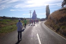 And that's the total field of half marathon runners - with me and Gerry (taking the photo) right at the back.