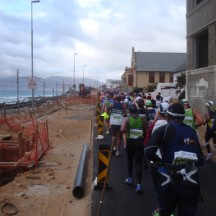 Approaching Fish Hoek, we had to make our way through the roadwords.