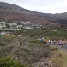 Presumably the houses of Noordhoek Manor visible up ahead.