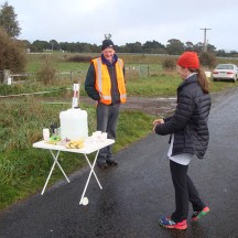 The water points were well-stocked with water, bananas and some lollies.
