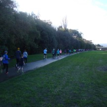 Running along the Bridle Track.
