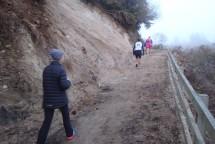 A few short hills, reducing some participants to a walk.