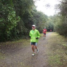 En route back to Huka Falls. Just after the 8km mark.