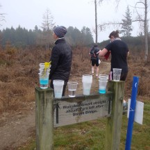 Despite the cool conditions, the hydration provided at the aid stations was most welcome.