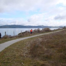 The long and winding road. A sealed walkway leading us all the way back to the finish.