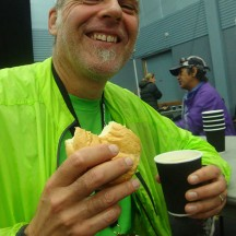 Delicious buns and chicken soup at the finish - a lovely touch.