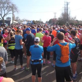 Some 300+ participants in the half marathon run and walk.