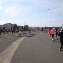 A short out-and-back stretch in the first kilometre.