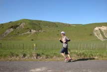 Running in the beautiful Rangitikei countryside, with some slips remaining as proof of the recent floods.