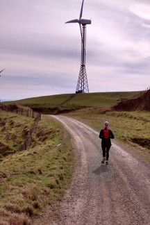 A lovely run among the wind turbines.
