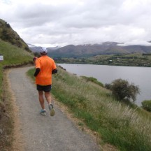 Not too far from the end of the 7km circle around Lake Hayes.