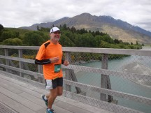 Gerry on the Shotover River bridge.