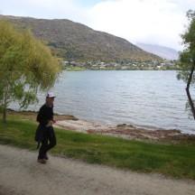 The Frankton Arm of Lake Wakatipu in the back.