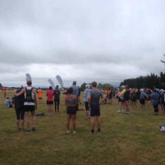 Overcast and a bit fresh at the start.
