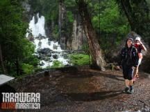 At the Tarawera falls.