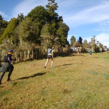 Some nasty little hills on the 2km loop through the paddocks at the start helped to quickly spread out competitors.