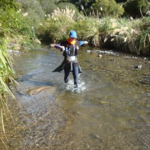 Nothing like crossing a mountain stream to keep your feet fresh and frosty!