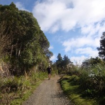 What goes down usually goes up again, so after some major downhills it was back to slogging up some never-ending hills.