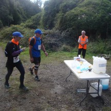 The aid stations were quite far apart, so after miles of non-stop climbing this was a very welcome sight.