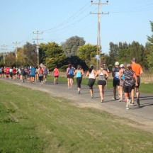 ...with colourful streams of runners stretching out ahead and behind us.