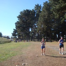 The halfway point and 21.1km start.